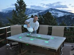 stunning led concrete patio table with