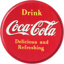 Coca Cola Drink Red Disc Wall Decal Embossed Look At Retro Planet