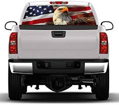 Amazon Com Luixxuer Car Decals American Flag Eagle Decal Rear Window Decal Truck Stickers For Car Truck Suv Jeep Universal Scratch Hidden Car Stickers 54 X 14 Inches Arts Crafts Sewing