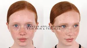 natural makeup application fair skin