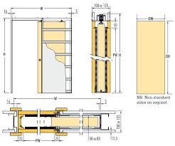 100mm wall thickness single pocket door