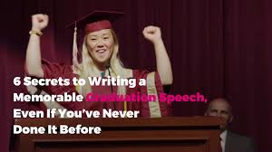 how to write a graduation speech everyone will remember real simple