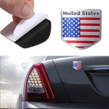 Bicycle Stickers Us Usa American Flag Metal Auto Refitting Car Badge Emblem Decal Sticker New Arrival Label Mark Symbol Bicycle Stickers Aliexpress