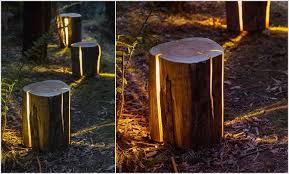 tree stump landscaping and decor ideas