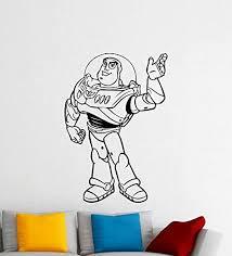 Amazon Com Buzz Lightyear Toy Story Wall Decal Disney Cartoons Sheriff Woody Buzz Lightyear Jessie Slinky Dog Vinyl Sticker Nursery Wall Art Teen Kids Room Wall Decor Removable Waterproof Mural 233a Kitchen