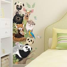 Waliicorners Lovely Panda Giraffe Koala Animal Cartoon Wall Stickers For Living Room Kids Room Stickers Diy Wallpaper Pvc Self Adhesive Waliicorner S Store