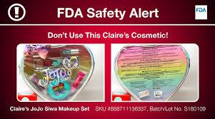 asbestos has again been found in makeup