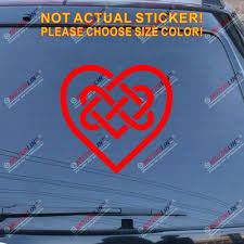 Amazon Com Celtic Heart Irish Knot Love Ireland Decal Sticker Car Vinyl Pick Size Color Red 16 40 6cm Arts Crafts Sewing