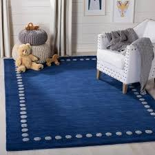 Safavieh Kids Navy 5 Ft X 8 Ft Area Rug Sfk802n 5 The Home Depot