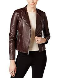 leather moto jacket burdy
