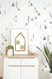 Winter Mountains And Trees Decals Muted Wall Decals The Lovely Wall Company