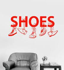 Vinyl Wall Decal Shoe Shop For Men Boot Sneakers Signboard Stickers 1558ig Ebay