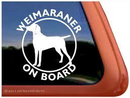 Weimaraner Dog Stickers Decals Nickerstickers