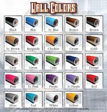 Color Chart Decals