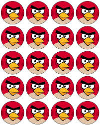 Angry Bird Cupcake Toppers Free To Use Free To Share 3
