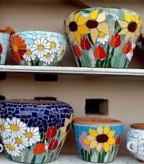 mosaic flower pots mosaic crafts