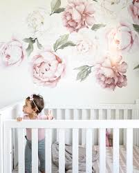 Rose Wall Sticker Flower Headboard Wall Decal Girls Bedroom Home Decor