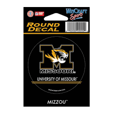 University Of Missouri Round Vinyl Decal 3 X 3 By Wincraft Mo Sports Authentics Apparel Gifts