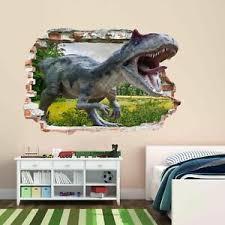 Dinosaur Jungle 3d Wall Sticker Mural Decal Print Art Kids Room Decor Az36 Ebay