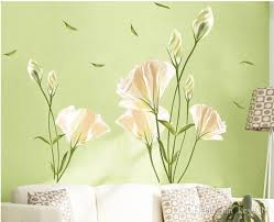 Lily Flowers Wall Sticker On The Wall Vinyl Wall Stickers Gome Decor Bedroom Backdrop Wall Decals Vinyl Wall Stickers Decals Vinyl Wall Stickers Quotes From Keyi011 8 7 Dhgate Com