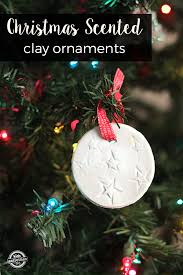 scented homemade clay ornaments
