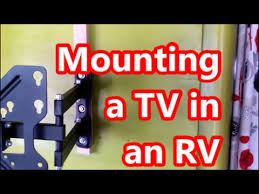 mounting a flatscreen led tv in an rv