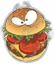Hamburger Burger Fast Food Sandwich Funny Car Bumper Vinyl Sticker Decal 4 X5 Ebay