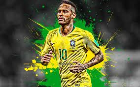 تحميل خلفيات نيمار 4k العلم البرازيلي البرازيل المنتخب الوطني