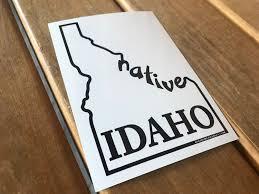 Idaho Native Decal Native Idaho Bumper Sticker Native Idaho Etsy Bumper Stickers Vinyl Decal Stickers Vinyl Sticker