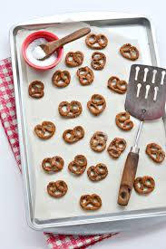homemade mini pretzels made without