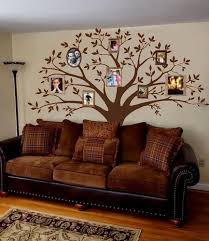 Amazon Com Mafent Giant Family Photo Tree Wall Decal Mural Art Vinyl Wall Stickers Living Room Baby Room Decor Brown Kitchen Dining