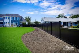 Gorgeous Black Pvc Vinyl Privacy Fence Panels From Illusions Vinyl Fence Contemporary Landscape New York By Illusions Vinyl Fence
