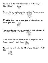 reading quotes for kids pictures pdf black and white printable
