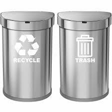 Vwaq Recycle And Trash Vinyl Decal For Trash Can Bin Wayfair