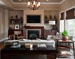 chicago dark brown walls living room