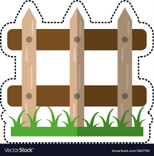 cartoon wooden fence garden image