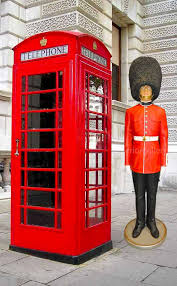 red telephone booth english iron phone box