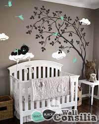 Tree With Teddy On The Cloud Wall Decalwallconsilia Com