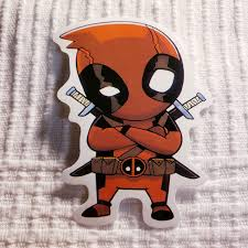 Deadpool Sticker Large Sticker About 8 Cm Depop
