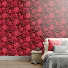 arthouse austin rose red wallpaper wilko