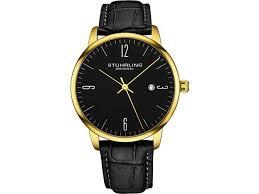 stuhrling original mens watch calfskin