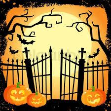 Halloween Banner Poster Postcard Stock Vector Colourbox
