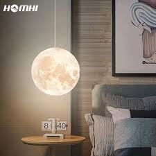 Moon Pendant Light Globe Bedside Lamp Shade Bedroom Deco Chambre Fille Bebe Creche Chandelier Children Planetarium Kids Room Pendant Lights Aliexpress