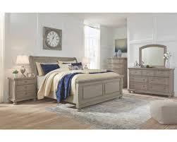 furniture sleigh bedroom set light grey
