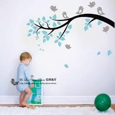 Birds Branch Wall Sticker Wall Decal Kid Nursery Decor Personalised Name Option Ebay
