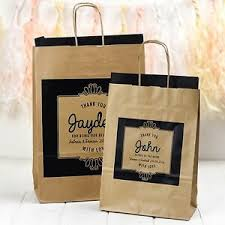personalised wedding gift bags kraft