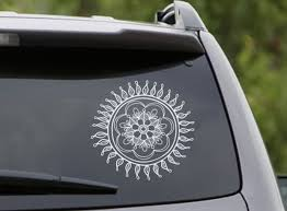 Mandala Car Decal Wall Decals Lotus Stickers Indian Yoga Studio Vinyl Decals Art Mural Home Interior D Car Accessories For Girls Car Decals Dream Catcher Decal