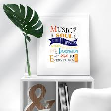 Printable Music Gives A Soul To The Universe Music Escapades Shoppe
