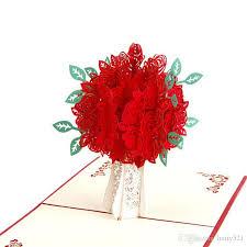 flower creative love 3d pop up
