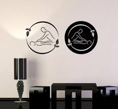 Spa Massage Therapy Vinyl Wall Decal Beauty Logo Relax Stickers Removable Room Decoration Art Mural Salon Decals Poster White Vinyl Wall Decals White Wall Decals From Joystickers 9 86 Dhgate Com
